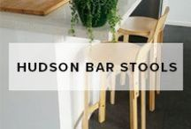 Hudson Bar Stools / This Board is a collaboration of images showcasing Mocka's Hudson Wooden Stools. They are contemporary, sturdy and stylish stools great for kitchens and dinning rooms.