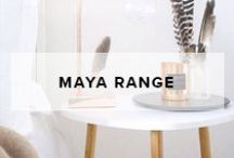 Maya Range / Mocka's Maya range offers a sleek and contemporary range of homewares. From side tables to ladder shelves, there is something to suit any home from the Maya range.