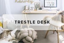 Trestle Desks / Mocka Trestle Desks are simple and streamline. They look great in any home or office.