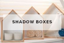 Shadow Boxes / Mocka Shadow Boxes are a set of small versatile shelves that can be decorated to suit any home. Hang them on the wall or sit them on a side table and style them with books, trinkets, candles and more. They are guaranteed to add whimsical charm to your home.