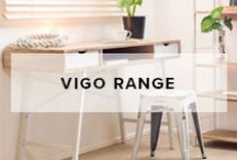 Vigo Range / Mocka's Vigo Range will add subtle elegance to your home with its chic industrial style. Choose from a desk, slim shelves or wide shelves.