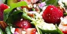 Healthy Salads / Salads made with healthy ingredients in unique combinations. | healthy eating | recipes
