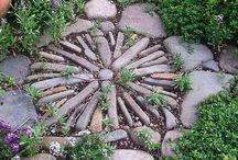 Yard art / Love to decorate my gardens.  / by Brenda Howell
