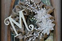 Felt, Crochet or Burlap Handmade Wreath Ideas / by Doreen Cassotta
