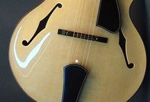 Archtop Acoustic Guitars / Archtop Guitars, some vintage, some antique and some new, mostly acoustic guitars but some sneak in a pick-up / by Lou Dacs