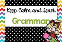 Teach {Grammar} / I love teaching Grammar! No I really do! These are just some of the resources I use to teach and review grammar! Parts of Speech, verb tenses, and more! Teaching ideas for elementary grammar or language arts!