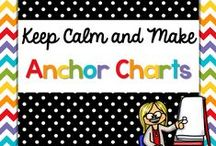 Keep Calm and {Make Anchor Charts} / Anchor Charts for your classroom!  I love a good anchor chart! I use them every single day.  I use anchor charts for mini-lessons, reading, writing and math workshop.