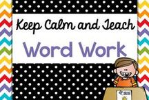 Teach {Word Work/Spelling} / Teaching resources and ideas for teaching spelling and word work. Spelling lists, word work ideas for Kindergarten, First, Second, Daily 5.