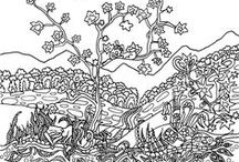 Coloring pages for adults / Adult coloring pages for download for free. Start coloring these beautiful Fantastic landscapes illustrations. You can sign up now and get high resolution PDF coloring pages now.