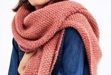 Stricken: Schals / Die beste Meditationsübung aller Zeiten: einen Schal stricken.