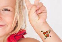 Tatuajes Temporales ::: Temporary Tattoos / calcomanías chulas para niños y adultos ::: cool temporary tattoos for kids and adults