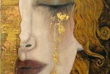Klimt / llyn's favorite artist and constant source of inspiration is Gustav Klimt. Klimt was the son of a goldsmith and is known for using pattern and color in his gorgeous multilayer paintings.