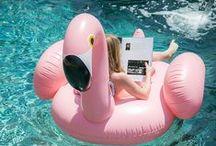 Pool Party / Vamos te ajudar a organizar uma festa na piscina para agitar um dia de sol e calor com muitos flamingos, drinks e balões!