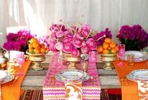 Moroccan Magic - Oh So Inspired 2016 / A rich, vibrant color palette of jewel tones and gold pops, with layered classic moroccan patterns. #stylemepretty #ohsoinspired16 #osi16 #standardpartyrentals