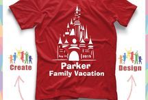 Disney Vacation Family T-Shirt Ideas / Get ideas for creative, themed shirts for your family's Disney vacation that you can either DIY or purchase.