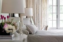 Bedrooms / elegeant, peaceful, calming bedrooms are what I love. Also sometimes dark or light and airy