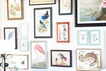 art walls / eclectic art gallery walls can be a challenge. Here are many, many ideas for putting them together. (more easily hopefully)