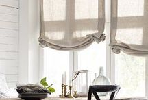beautiful window treatments / elegant draperies, drapes, Roman Shades, blinds, trimmings, drapery fabric, window treatment ideas
