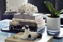 bookcase, table and fireplace mantel styling / bookcase, table and fireplace mantel styling