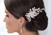Bridal Combs & Clips / Elegant bridal combs & clips.  See beautiful bride and model photos with hair up and hair down.  Whether your wedding style is romantic, vintage or modern... you'll see it all here.
