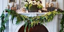 Christmas and Holiday Mantels That Will Make You Plotz / Christmas and holiday fireplace mantel decorations, decor. Holiday decorating