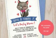 How to throw the purrrfect cat or kitty party! / Your daughters said she wants a cat party and you're climbing the walls for ideas.....don't worry, look what the cat dragged in right here!