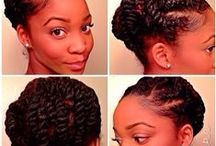 Natural Hairstyles / Always looking to switch things up with new dos.