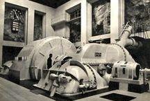 Crushed by the wheels of Industry / Big things, industrial stuff, huge machines, buildings or constructions. I like engineering. // Génie civil, grosses machines, superstructures: j'aime l'ingénierie, l'industrie lourde, le béton et le métal: c'est beau. / by Lewis Wingrove