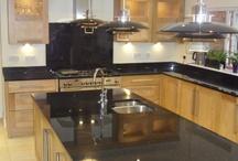 Granite & quartz worktops / Selection of kitchen worktops we have fitted in granite and quartz.