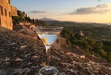 E lucevan le stelle - Wine Bar, Bistro & Jazz ! / Locanda San Francesco's jazzy Wine bar and Bistro in Montepulciano, Tuscany. Great wine and food, stunnig views over Val D'Orcia, art exhibitions, live jazz.