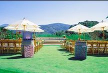 Ceremony Ideas / Vintage travel inspired vineyard wedding Holman Ranch Carmel Valley California