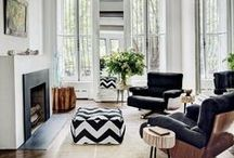 Black and White Rooms / by Architectural Digest