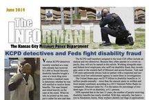 KCPD Monthly Newsletters / Each month the Kansas City Missouri Police Department puts a out Monthly Newsletter that we call the Monthly Informant. Read about what is going on with the KCPD family.