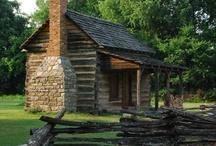 OLD log cabins / by Sanna Davis