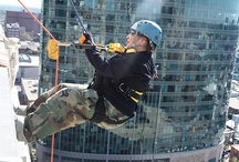 Over the Edge - Special Olympics / Over the Edge -  is an event, a fundraiser for the Special Olympics. Participants are strapped in a harness and helmet and then rappell off the side of a 15-plus story buildings. Over the Edge is one of many events hosted by law enforcement to benefit their charity of choice, Special Olympics.