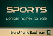Domain names related to Sports / #Domain names and #sports related website names for sale.  Cool #sports company name ideas