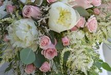 Weddings: Passionate Pink and Peaches / Wedding Bouquets in pink and peach tones created by our certified wedding designers here at Bradford Greenhouses Garden Gallery, Barrie Ontario.
