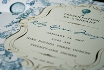 Stationery Love / Monograms, Chinoiserie, French all elements that make beautiful, memorable stationery.