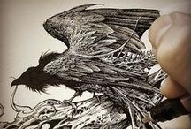 Aaron Horkey / Illustration, inking, typography, and other art by artist Aaron Horkey