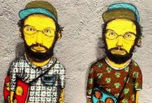 Os Gêmeos / Street art by Os Gêmeos, the Brazilian art duo comprised of identical twin brothers