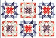 Patriotic Quilts / Patriotic quilt patterns and other quilted Fourth of July crafts