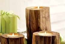 Sfeermakers van hout / hout, haardhout, gezelligheid, sfeer, warmte,