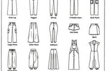 Sewing Vocabulary / Terms used in fashion and sewing