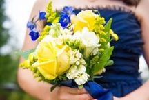 Navy Blue & Yellow Wedding / by ElysaBeth Gaona