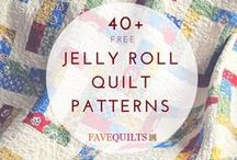 Jelly Roll Quilt Patterns / Free jelly roll quilt pattern, how to make a jelly roll quilt, jelly roll quilt pattern, free jelly roll quilt patterns, super fast jelly roll quilt, easiest ever jelly roll quilt, jelly roll quilt ideas / by FaveQuilts