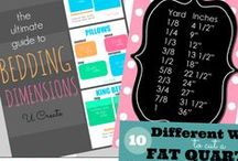 Handy Quilting Charts and References / Need visuals for all that complicated quilt math? Look no further!