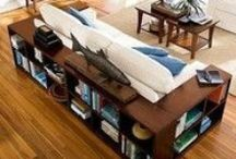 DECORATING : BOOKCASES/SHELVES / by Connie Huffman