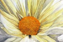 Floral painting: Daisies, sunflowers and others