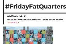 #FridayFatQuarters / Love quilting with fat quarters? So do I! Join me every Friday as I feature a fun fat quarter pattern! / by FaveQuilts