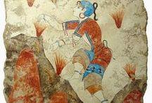 Fresco ~ Mosaic / Minoan Frescos, Crete / by Turgay Denizel